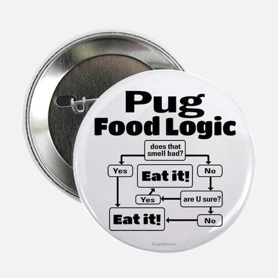 """Pug Food 2.25"""" Button"""