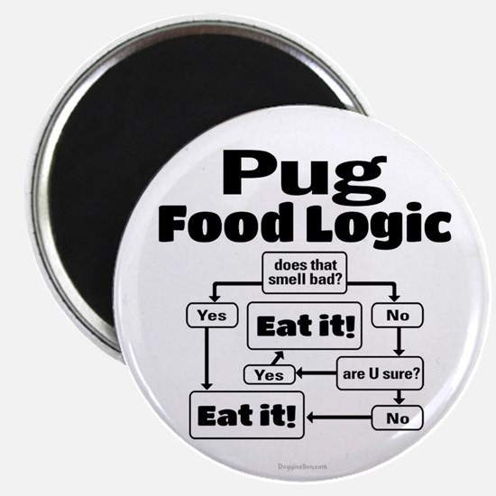 Pug Food Magnet