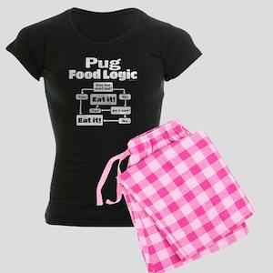 Pug Food Women's Dark Pajamas
