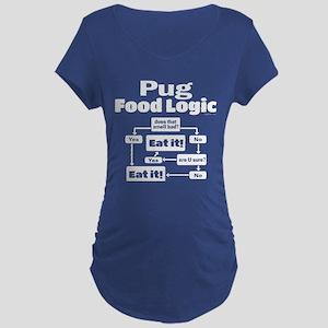 Pug Food Maternity Dark T-Shirt