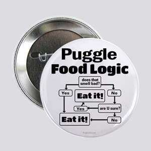 "Puggle Food 2.25"" Button"
