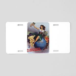 Italian Poster Aluminum License Plate