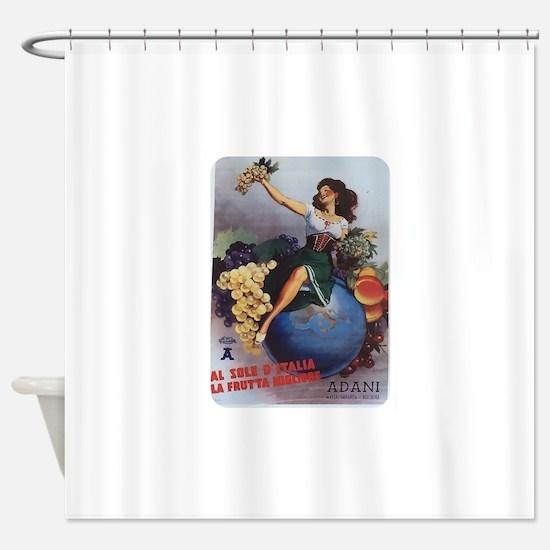 Italian Poster Shower Curtain