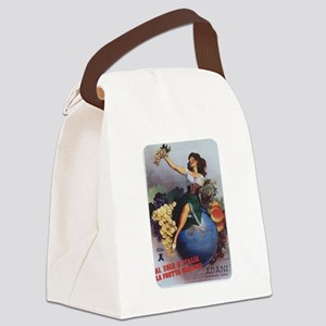 Italian Poster Canvas Lunch Bag