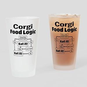 Corgi Food Drinking Glass