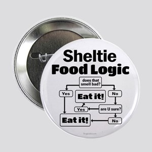 "Sheltie Food 2.25"" Button"