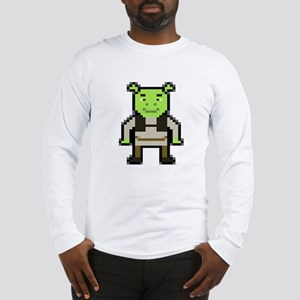 Pixel Shrek Long Sleeve T-Shirt