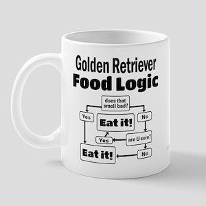 Golden Retriever Food Mug