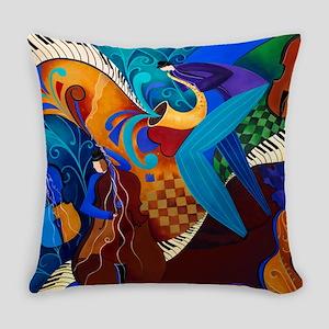 Juleez Music Art Decor Painting Mu Everyday Pillow