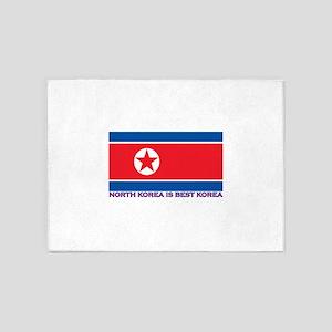 North Korea is best korea 5'x7'Area Rug