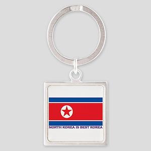 North Korea is best korea Keychains
