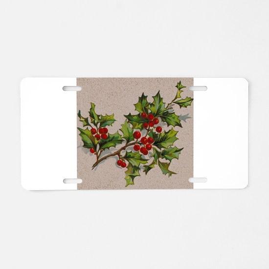 HollyBerries20151105 Aluminum License Plate