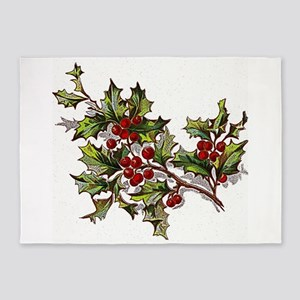 HollyBerries20151104 5'x7'Area Rug