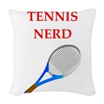nerd gaming and sports joke Woven Throw Pillow