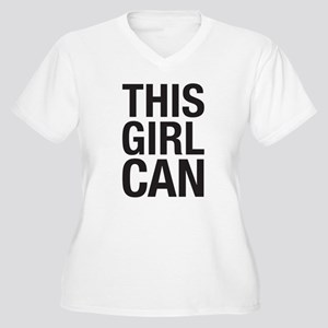 This Girl Can Women's Plus Size V-Neck T-Shirt