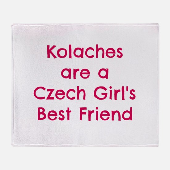 Cute Czech Throw Blanket