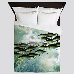 Awesome fish shoal Queen Duvet