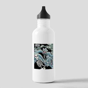 Skelet med blomster Water Bottle