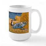 Dog in Van Gogh noon rest painting Mugs