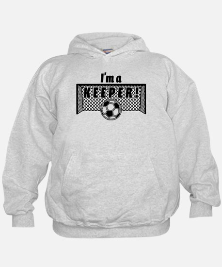 Im a Keeper soccer fancy black.png Hoody