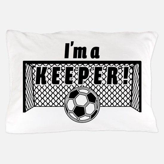 Im a Keeper soccer fancy black.png Pillow Case