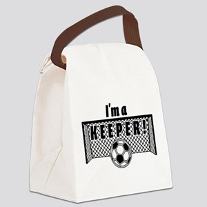 Im a Keeper soccer fancy black.pn Canvas Lunch Bag