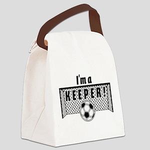 Im a Keeper soccer fancy black.pn Canvas Lunch Bag
