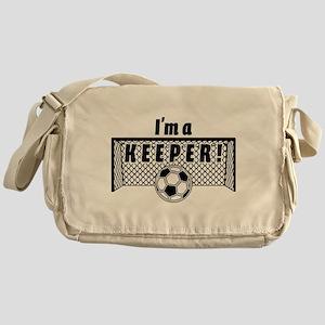 Im a Keeper soccer fancy black Messenger Bag