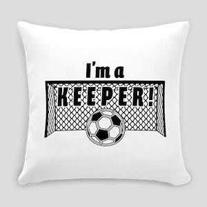Im a Keeper soccer fancy black Everyday Pillow