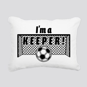 Im a Keeper soccer fancy Rectangular Canvas Pillow