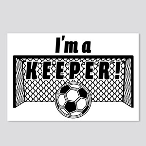 Im a Keeper soccer fancy Postcards (Package of 8)