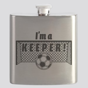 Im a Keeper soccer fancy black Flask