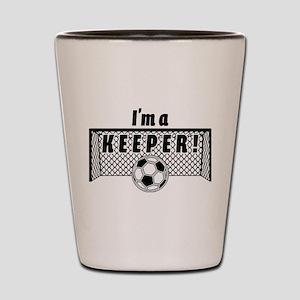 Im a Keeper soccer fancy black Shot Glass