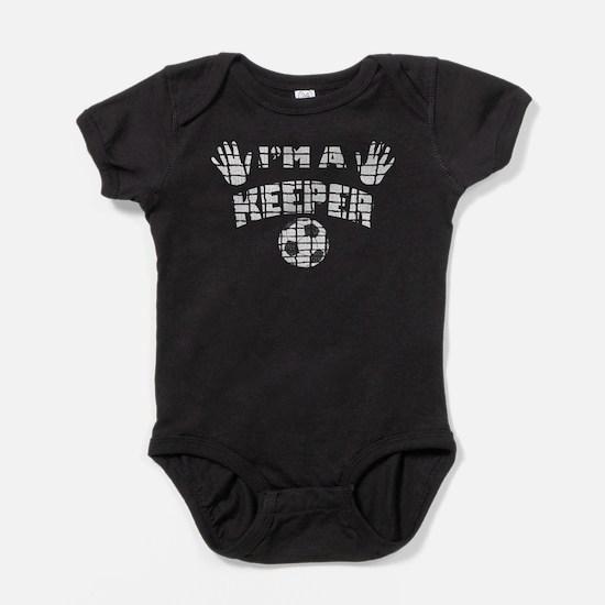 Im a Keeper Net wht.png Baby Bodysuit