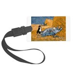 Dog in Van Gogh noon rest painting Large Luggage T