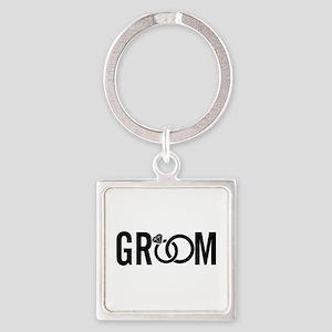 groom Square Keychain