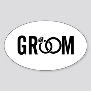 groom Sticker (Oval)