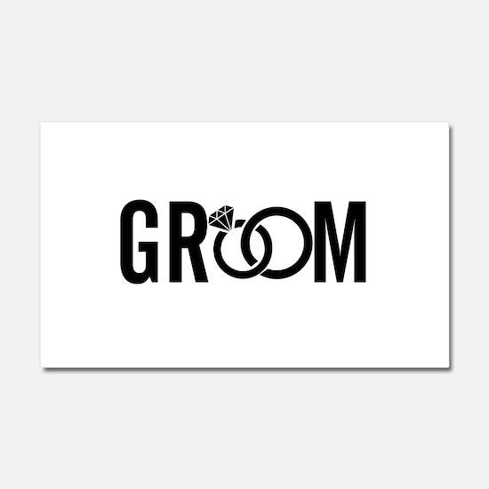groom Car Magnet 20 x 12