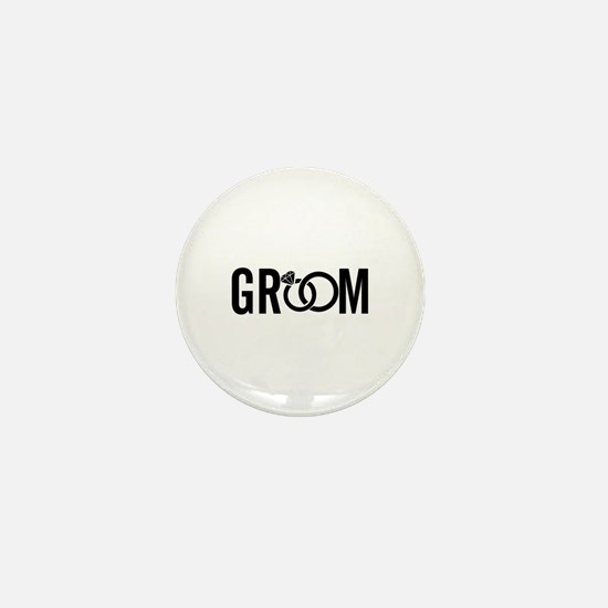 groom Mini Button