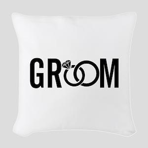 groom Woven Throw Pillow