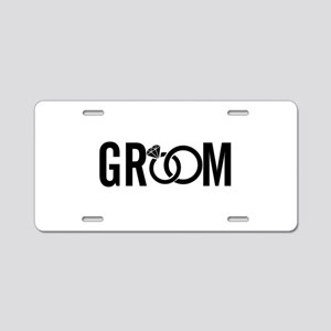 groom Aluminum License Plate