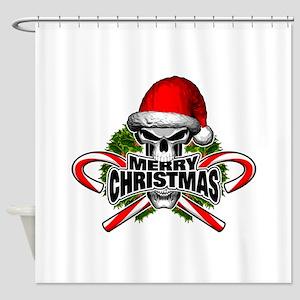 Santa Skull Shower Curtain