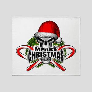 Santa Skull Throw Blanket