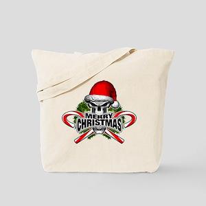Santa Skull Tote Bag