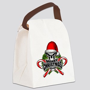 Santa Skull Canvas Lunch Bag