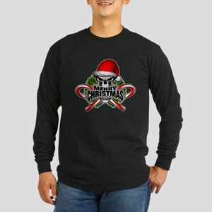 Santa Skull Long Sleeve T-Shirt