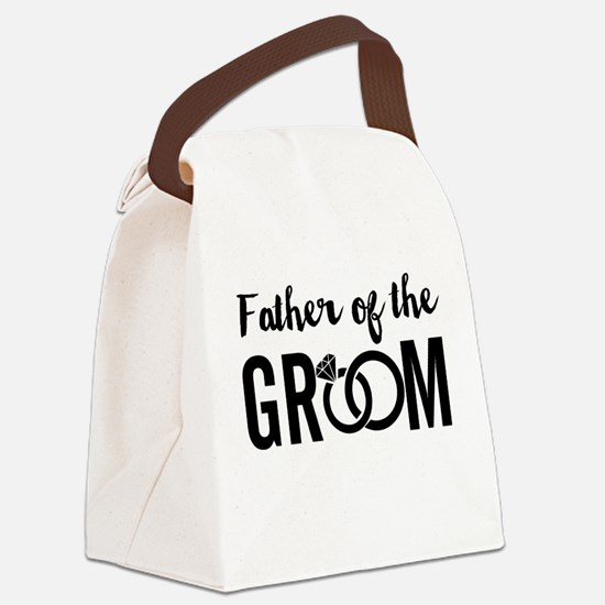 Father of the Groom Canvas Lunch Bag