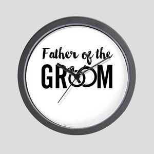Father of the Groom Wall Clock