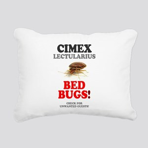BED BUGS - UNWANTED HOTE Rectangular Canvas Pillow