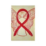 Red Awareness Ribbon Angel Magnets 10 Pack